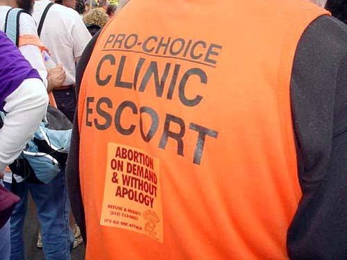 abortion clinic escort